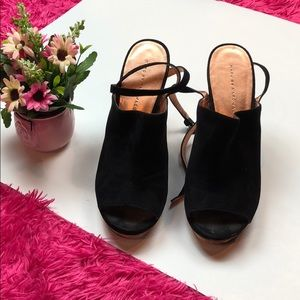 Marc by Marc Jacobs Rose Gold Blk Suede Shoes